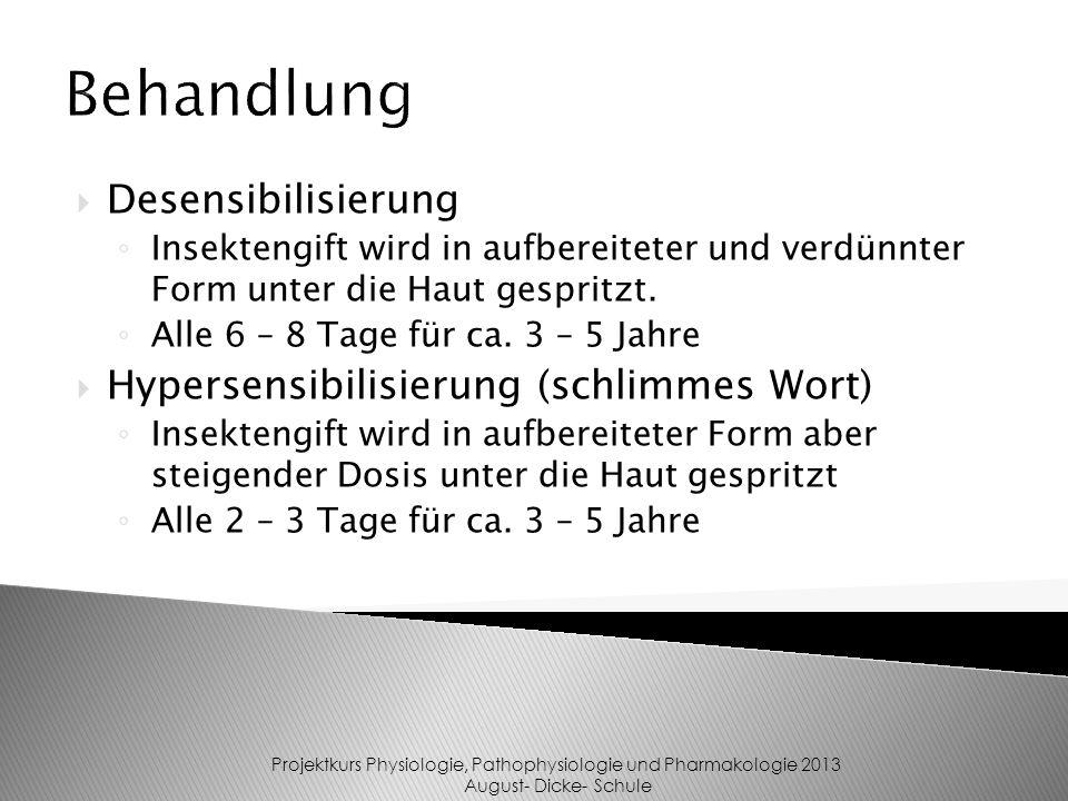 Projektkurs Physiologie, Pathophysiologie und Pharmakologie 2013