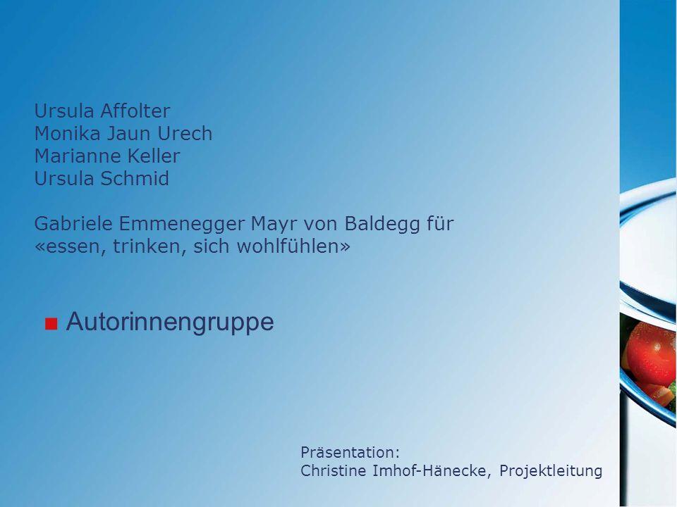 Autorinnengruppe Ursula Affolter Monika Jaun Urech Marianne Keller