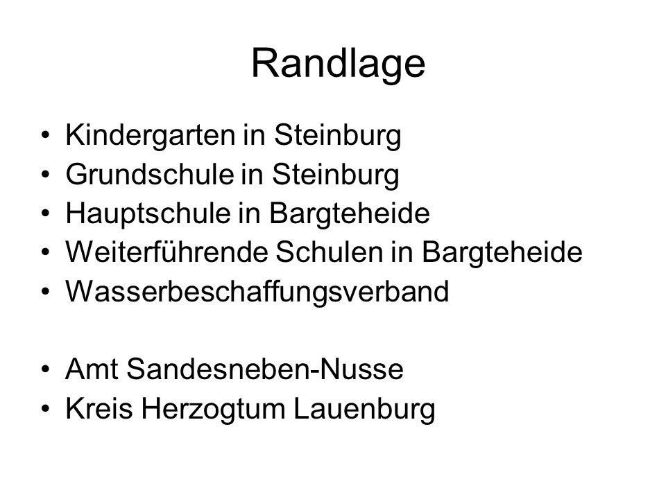 Randlage Kindergarten in Steinburg Grundschule in Steinburg