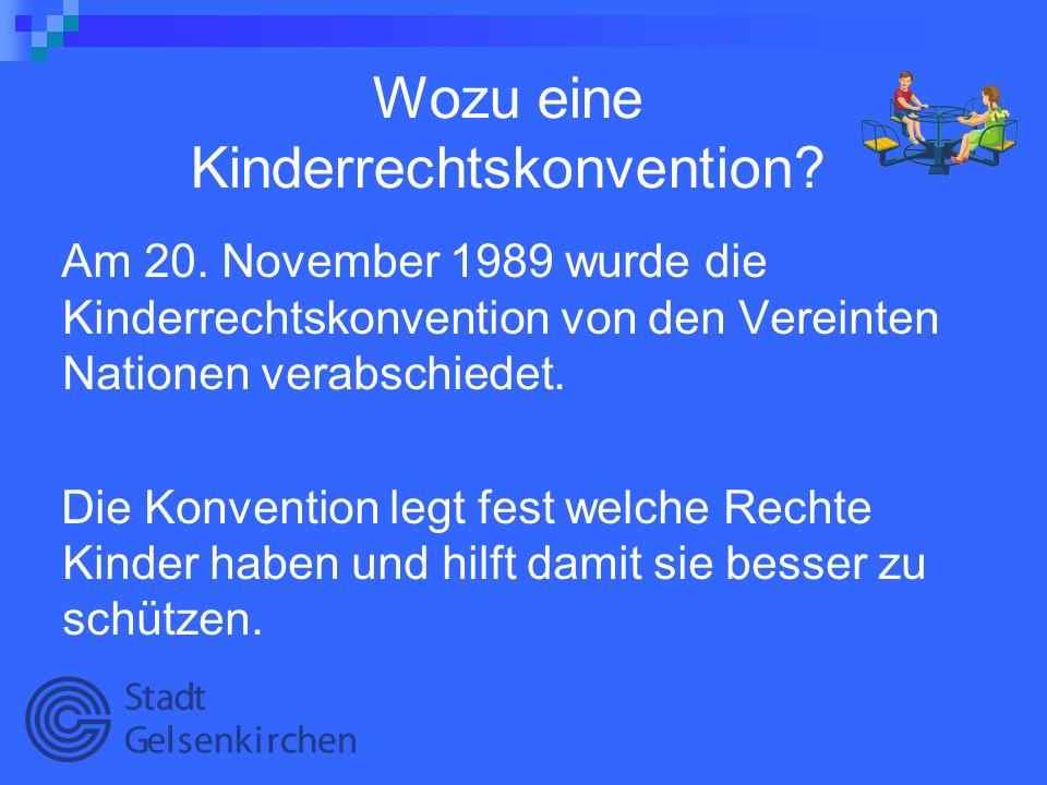 Wozu eine Kinderrechtskonvention
