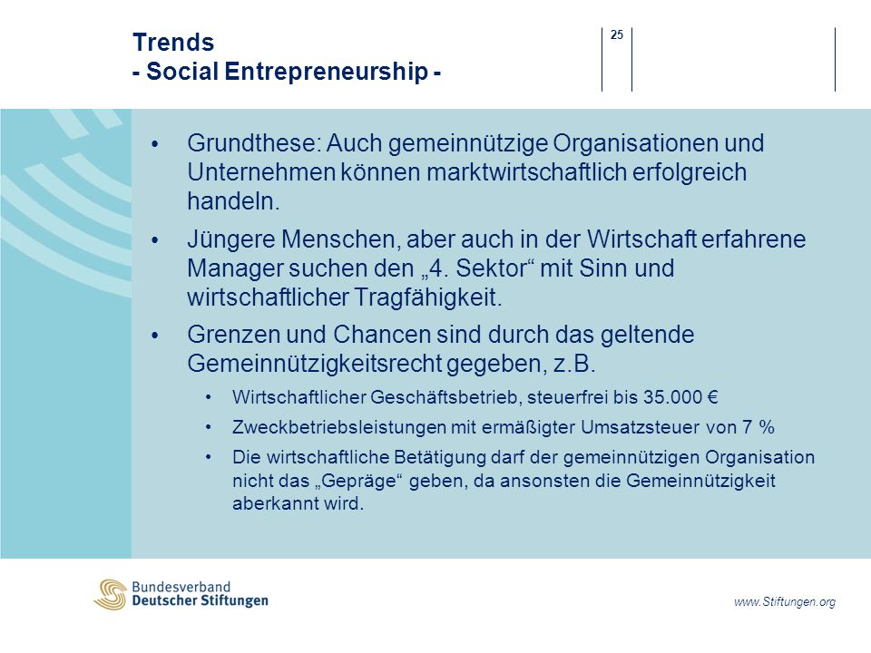 Trends - Social Entrepreneurship -