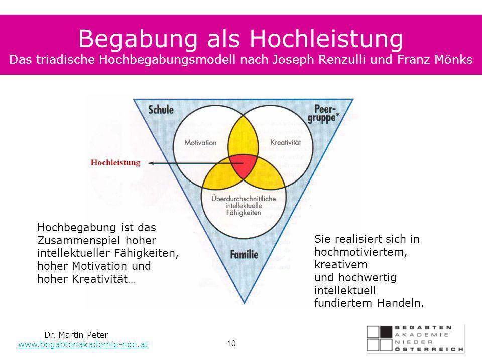 Begabung als Hochleistung Das triadische Hochbegabungsmodell nach Joseph Renzulli und Franz Mönks