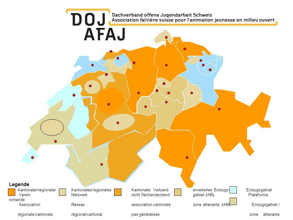 Legende Kantonaler/regionaler Kantonales/regionales Kantonaler Verband erweitertes Einzugs- Einzugsgebiet.