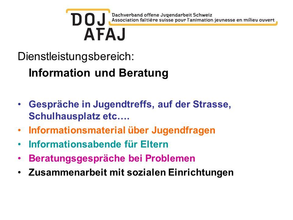 Dienstleistungsbereich: Information und Beratung