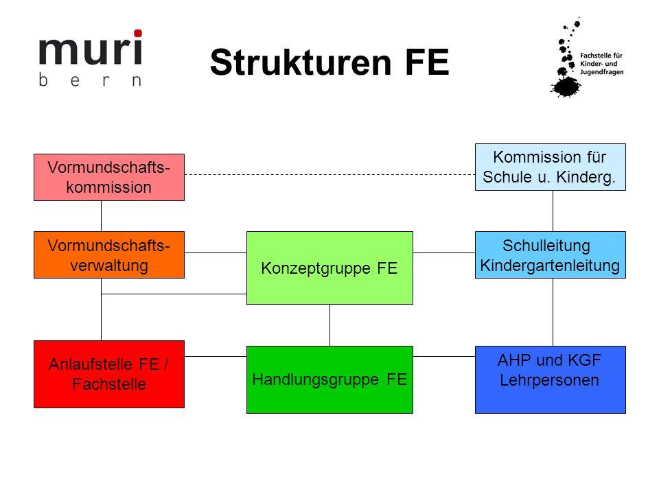 Strukturen FE Kommission für Schule u. Kinderg. Vormundschafts-