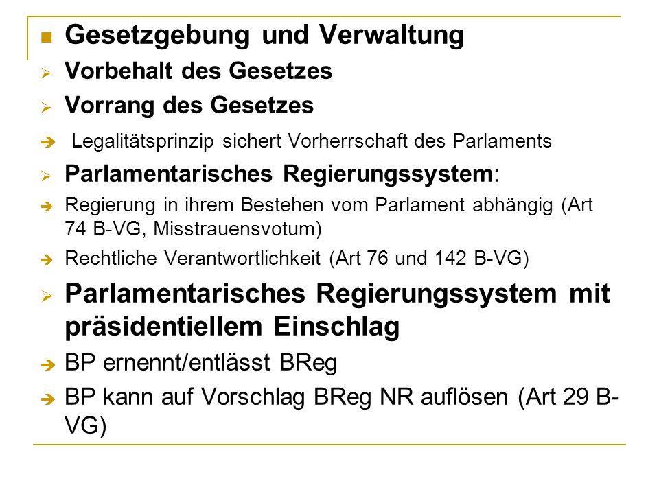 Gesetzgebung und Verwaltung