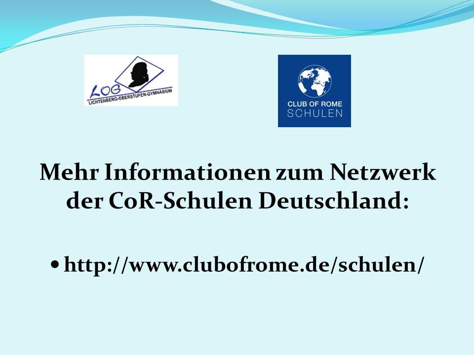 Mehr Informationen zum Netzwerk der CoR-Schulen Deutschland: