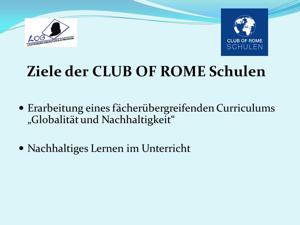 Ziele der CLUB OF ROME Schulen