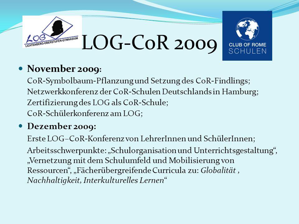 LOG-CoR 2009 November 2009: Dezember 2009: