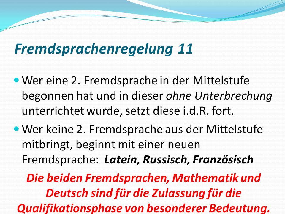 Fremdsprachenregelung 11