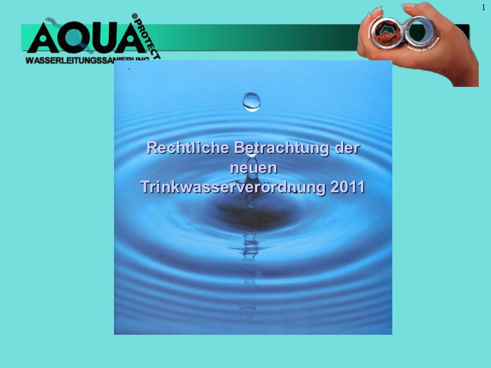 Rechtliche Betrachtung der neuen Trinkwasserverordnung 2011