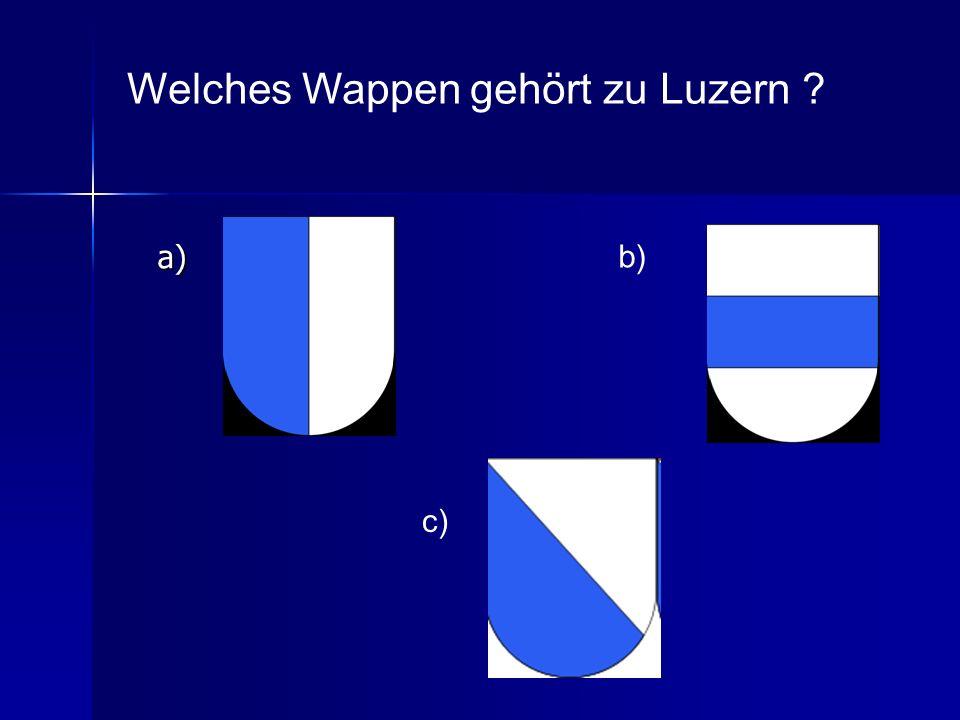 Welches Wappen gehört zu Luzern