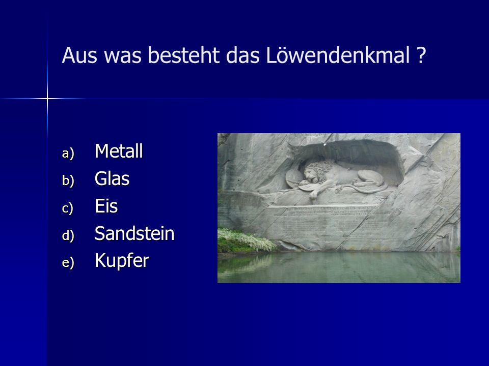 Aus was besteht das Löwendenkmal