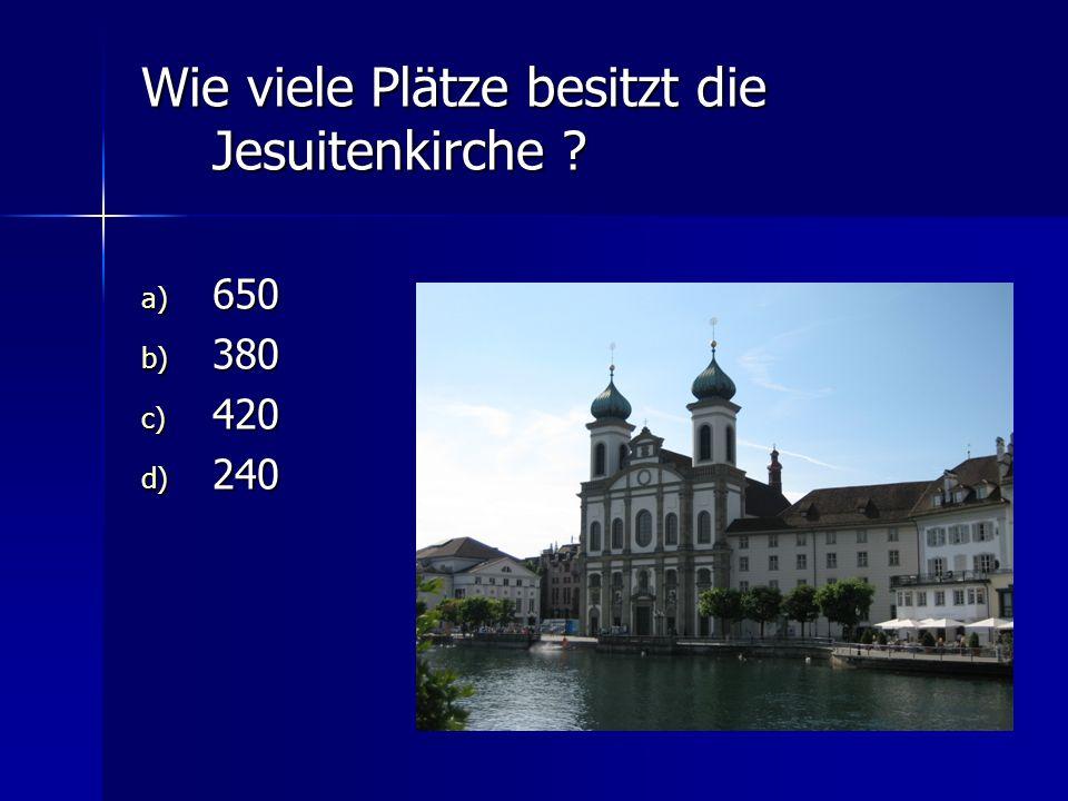 Wie viele Plätze besitzt die Jesuitenkirche