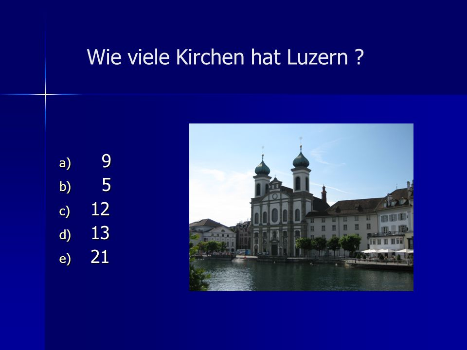 Wie viele Kirchen hat Luzern