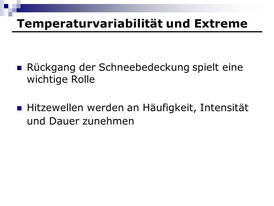 Temperaturvariabilität und Extreme