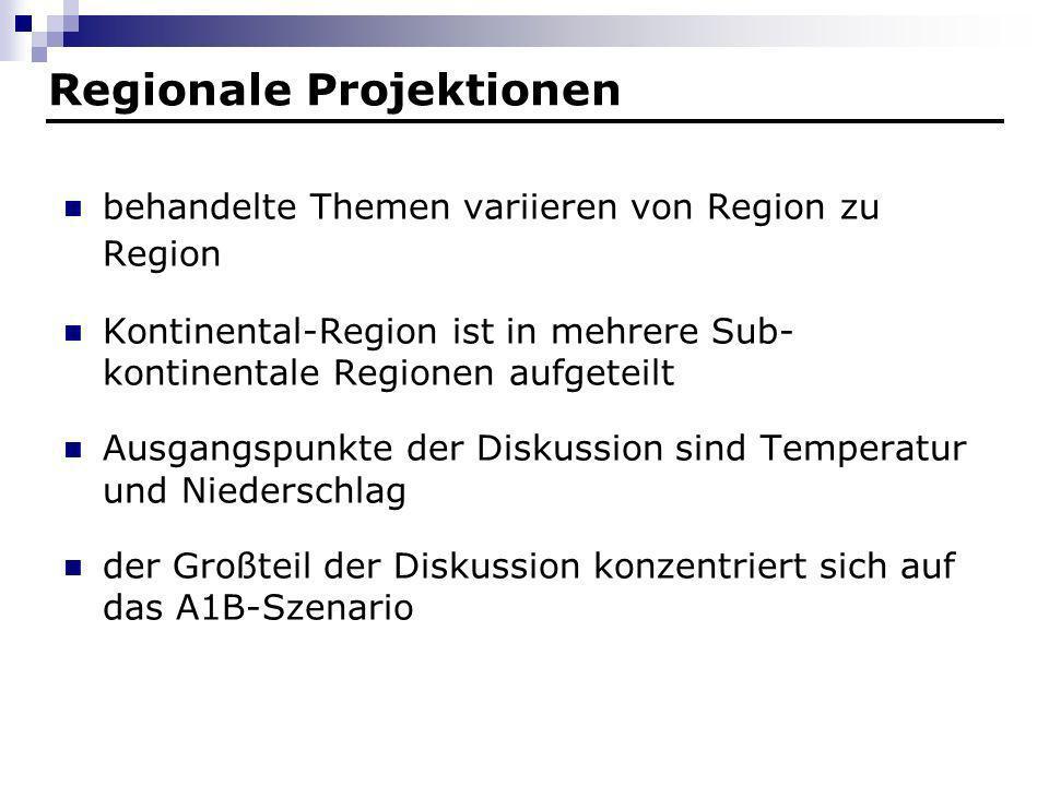 Regionale Projektionen