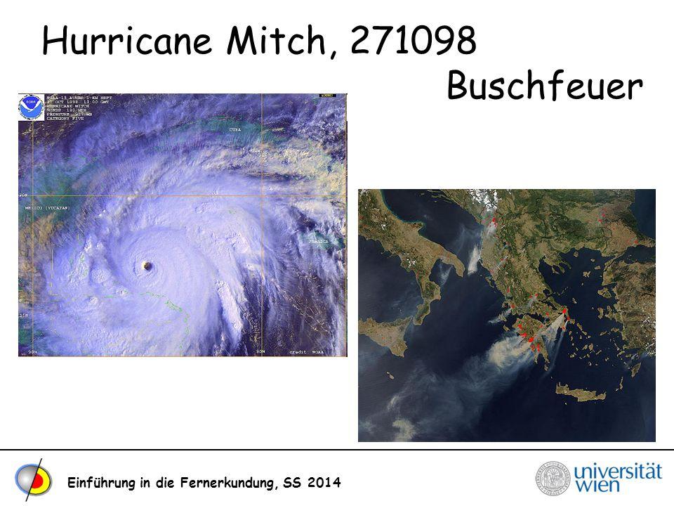 Hurricane Mitch, 271098 Buschfeuer