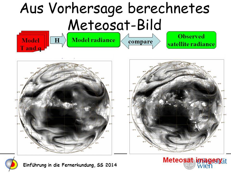 Aus Vorhersage berechnetes Meteosat-Bild