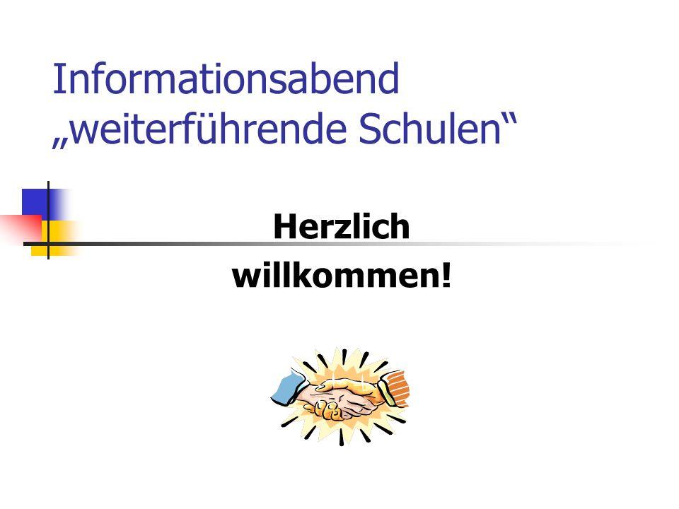 """Informationsabend """"weiterführende Schulen"""