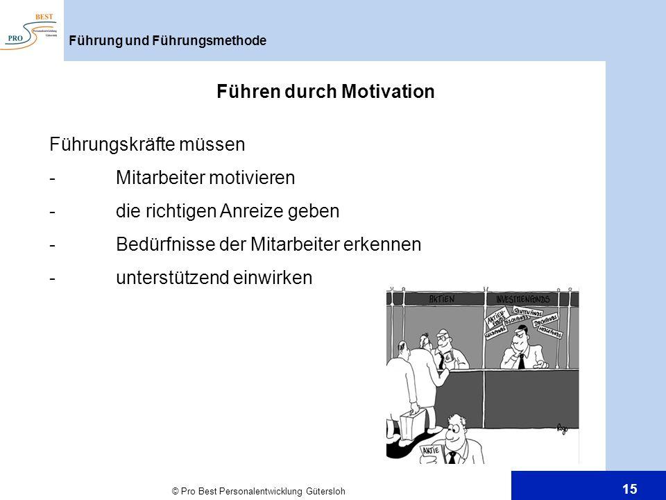 Führen durch Motivation