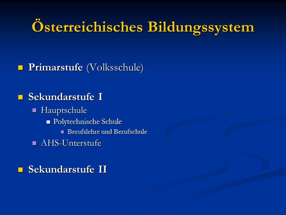 Österreichisches Bildungssystem