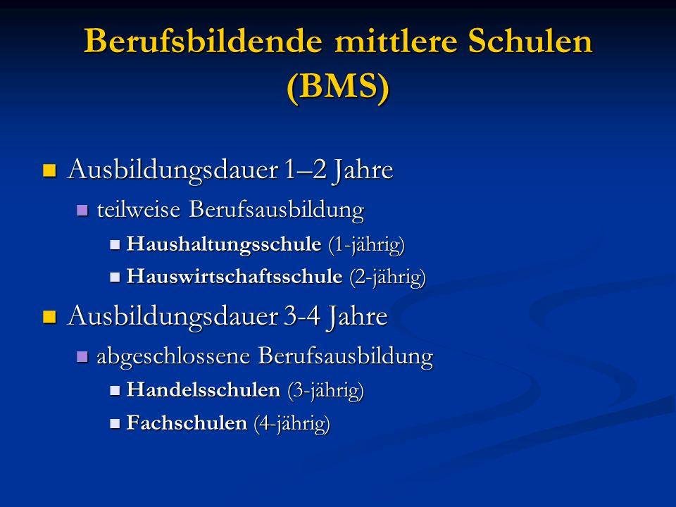 Berufsbildende mittlere Schulen (BMS)