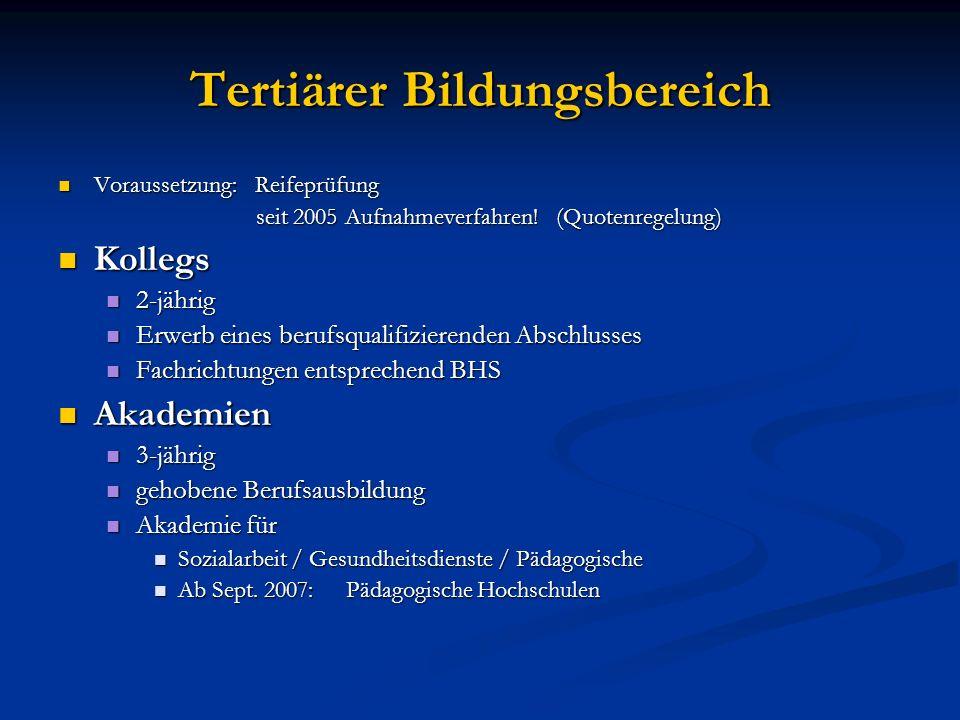 Tertiärer Bildungsbereich