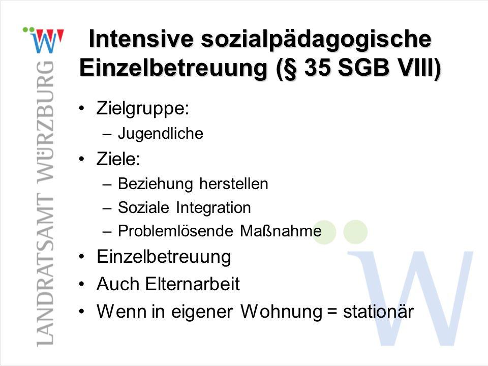 Intensive sozialpädagogische Einzelbetreuung (§ 35 SGB VIII)