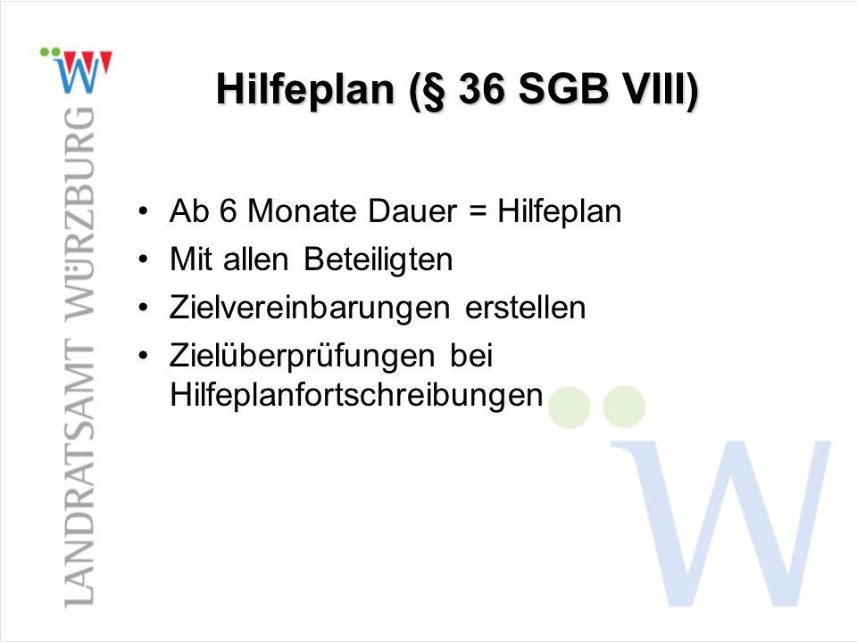 Hilfeplan (§ 36 SGB VIII) Ab 6 Monate Dauer = Hilfeplan
