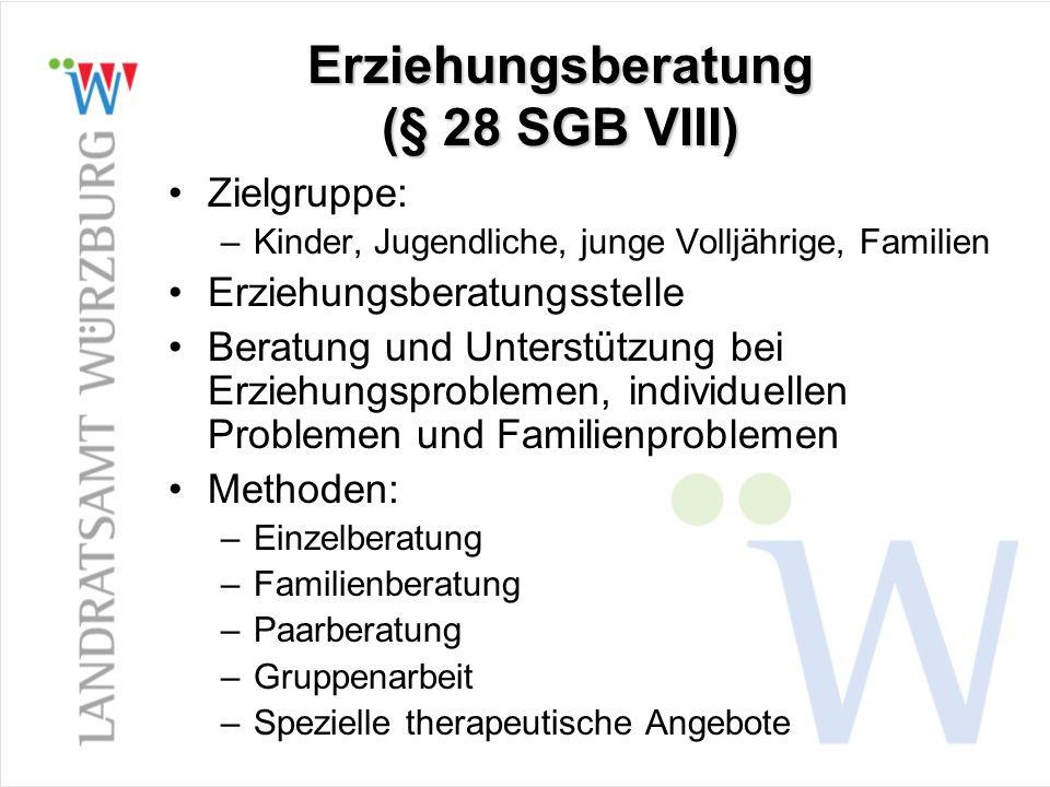 Erziehungsberatung (§ 28 SGB VIII)