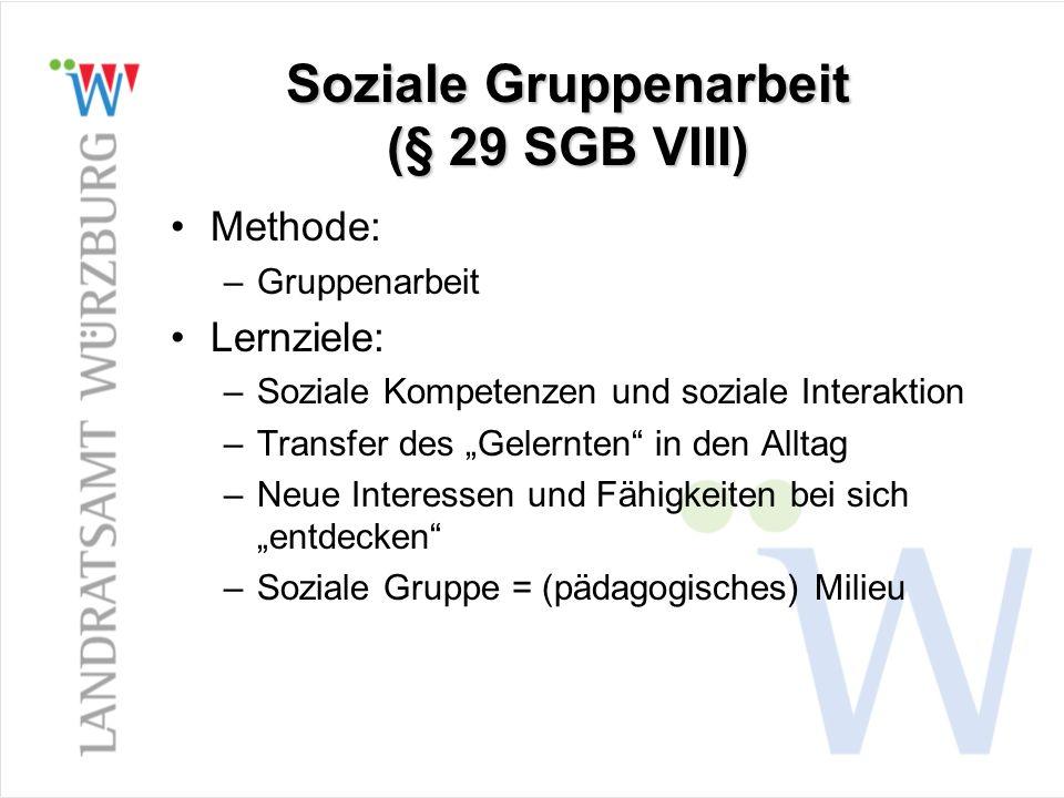 Soziale Gruppenarbeit (§ 29 SGB VIII)