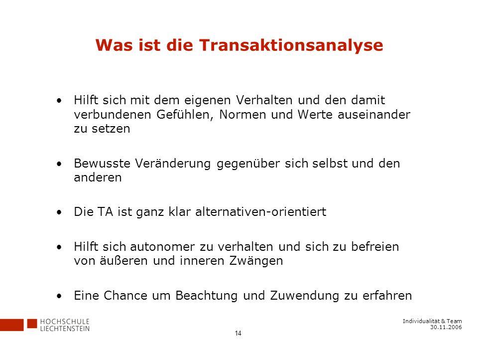 Was ist die Transaktionsanalyse