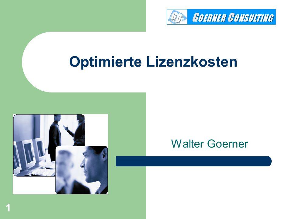 Optimierte Lizenzkosten