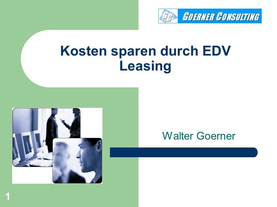 Kosten sparen durch EDV Leasing