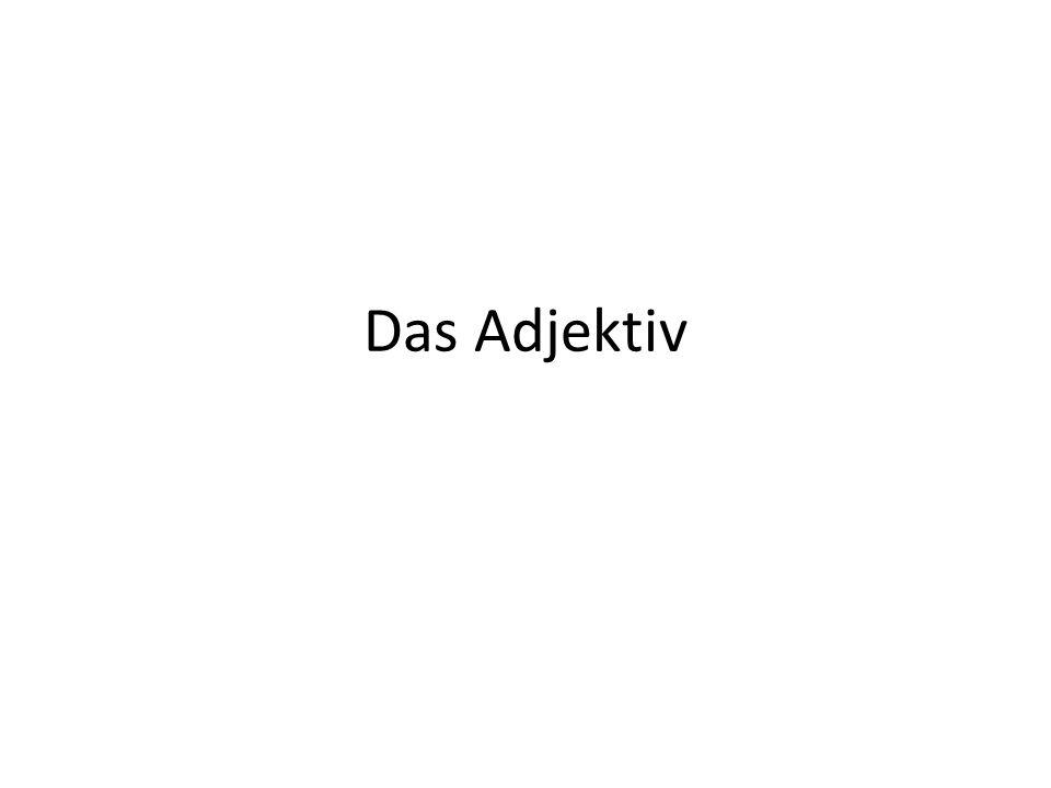 Das Adjektiv