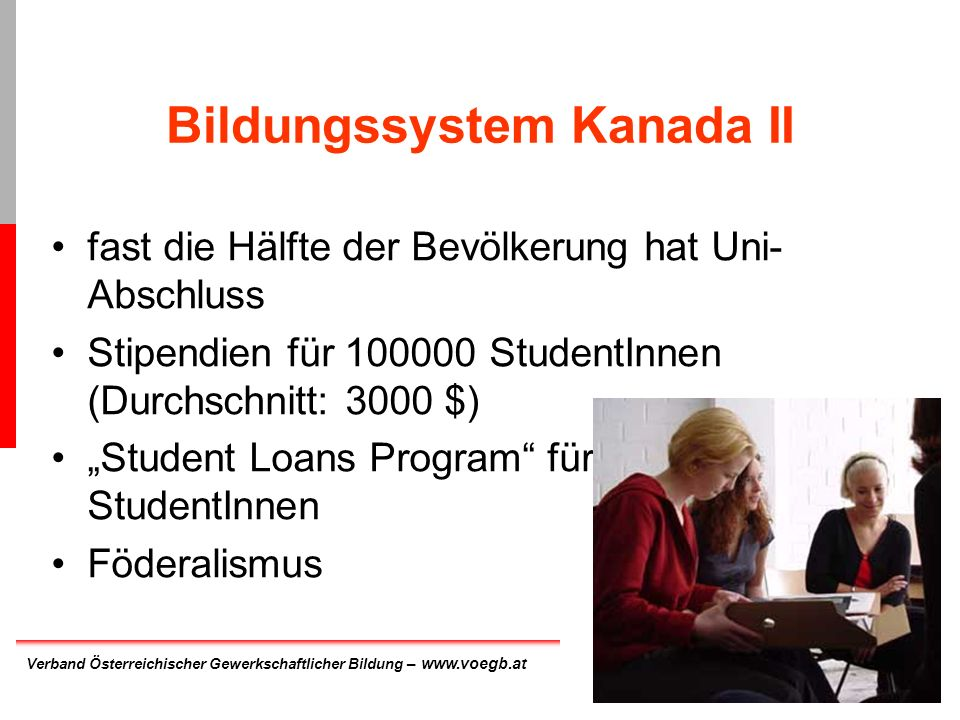 Bildungssystem Kanada II
