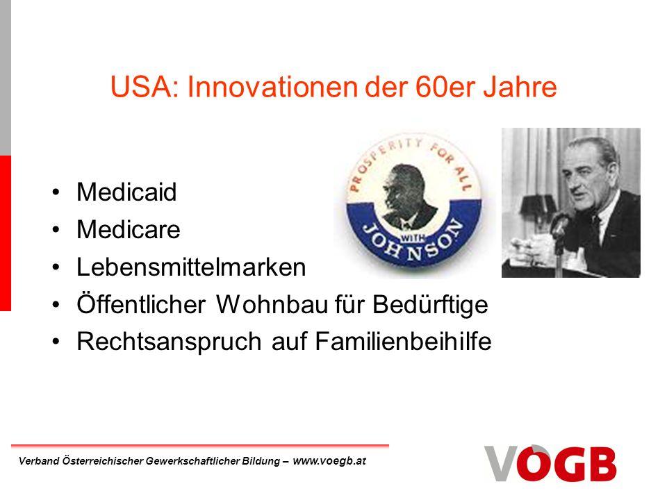 USA: Innovationen der 60er Jahre