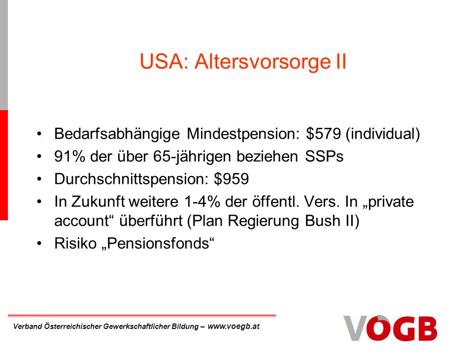 USA: Altersvorsorge II