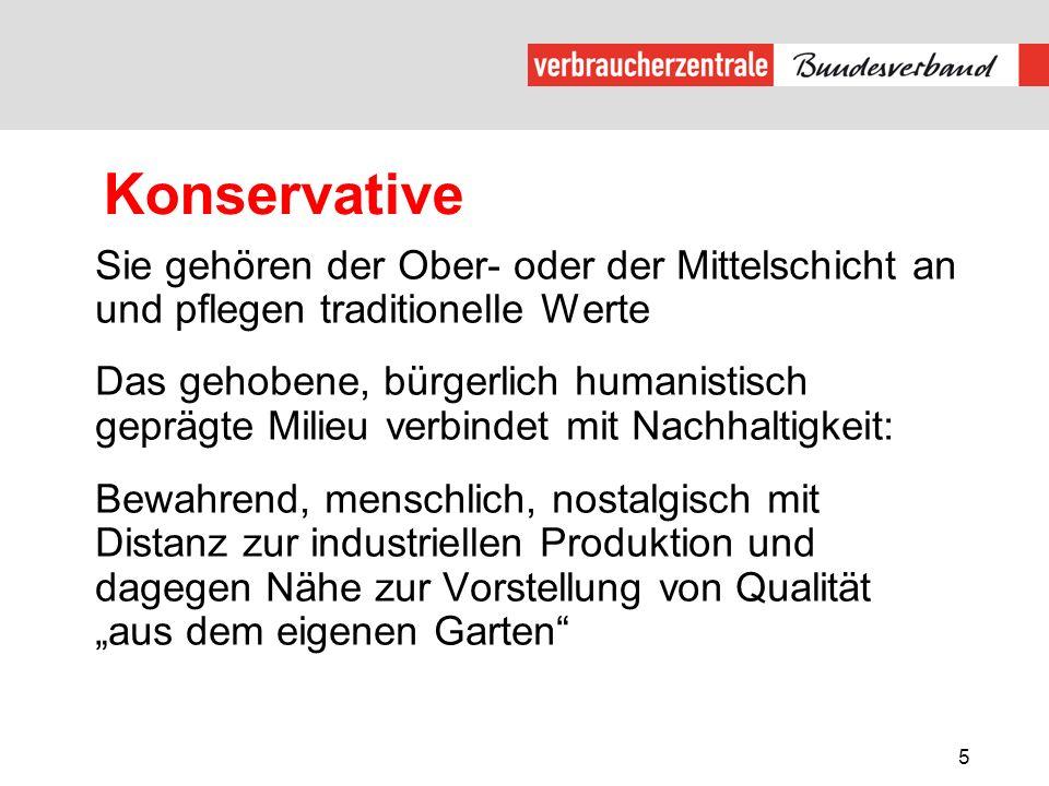 Konservative Sie gehören der Ober- oder der Mittelschicht an