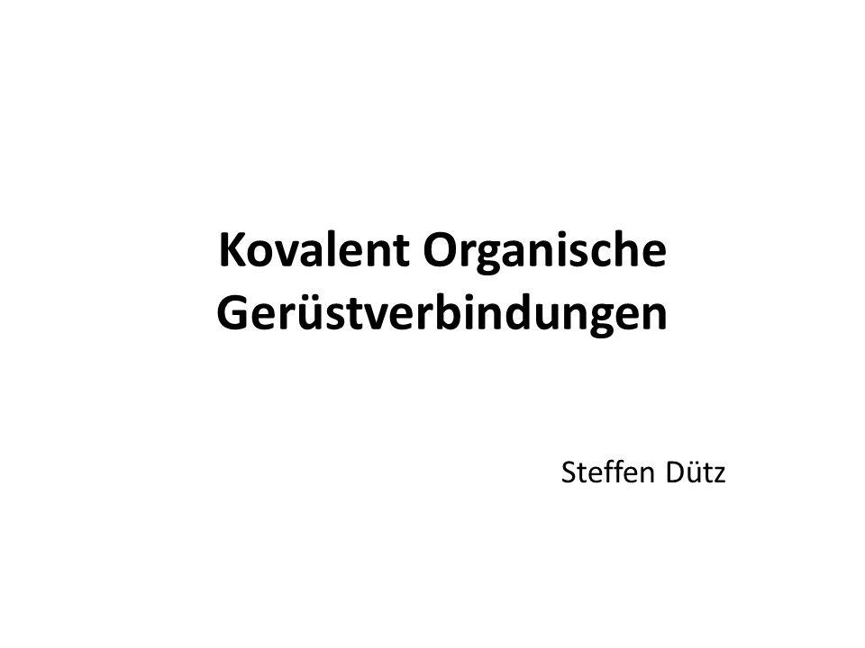 Kovalent Organische Gerüstverbindungen
