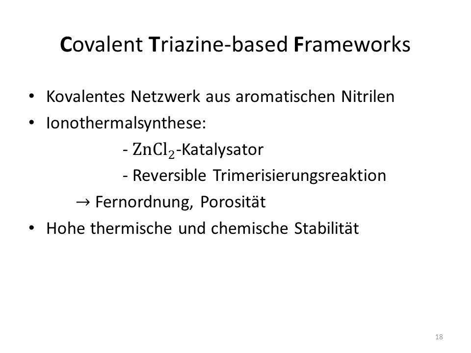 Covalent Triazine-based Frameworks