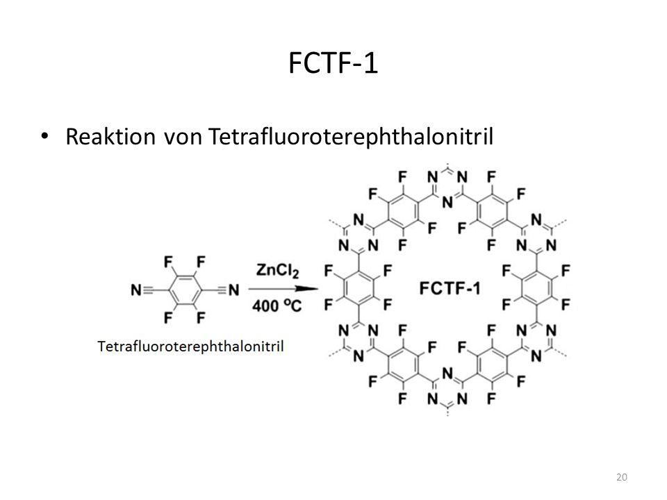 FCTF-1 Reaktion von Tetrafluoroterephthalonitril