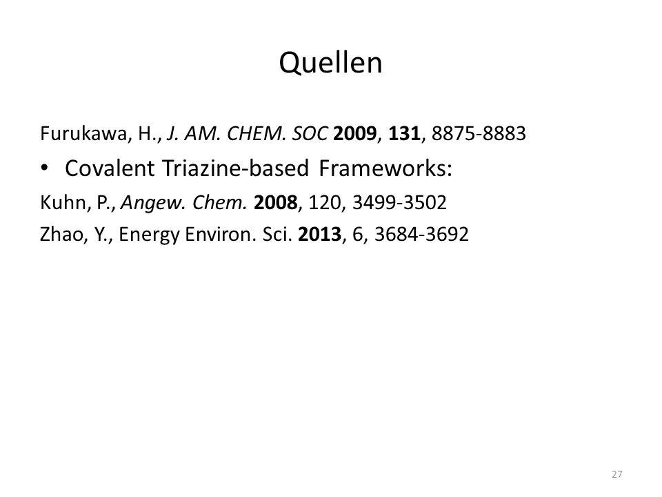 Quellen Covalent Triazine-based Frameworks: