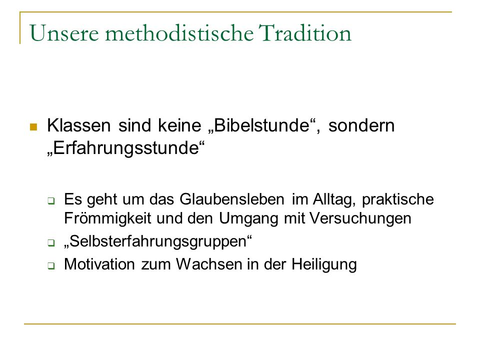 Unsere methodistische Tradition
