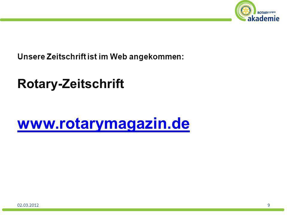 www.rotarymagazin.de Rotary-Zeitschrift