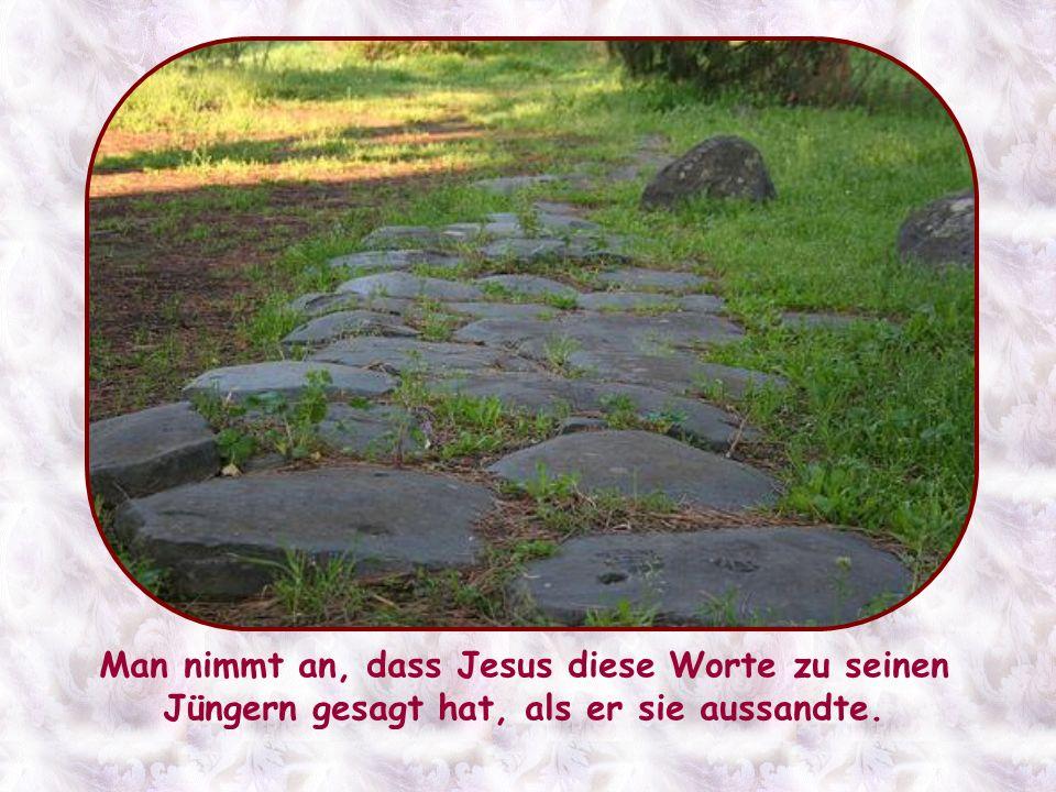 Man nimmt an, dass Jesus diese Worte zu seinen Jüngern gesagt hat, als er sie aussandte.