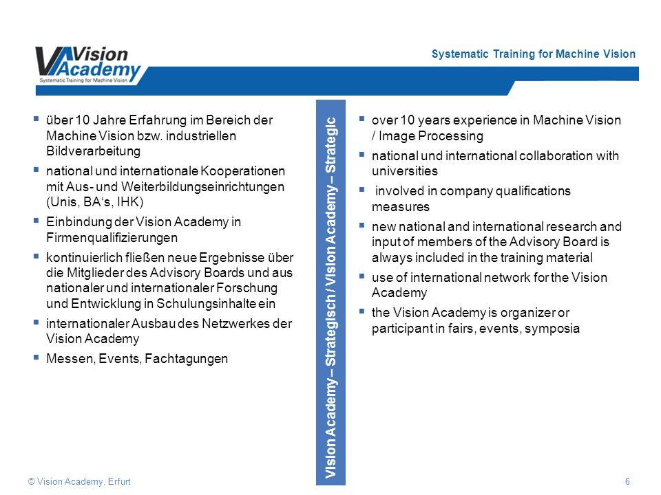 Einbindung der Vision Academy in Firmenqualifizierungen