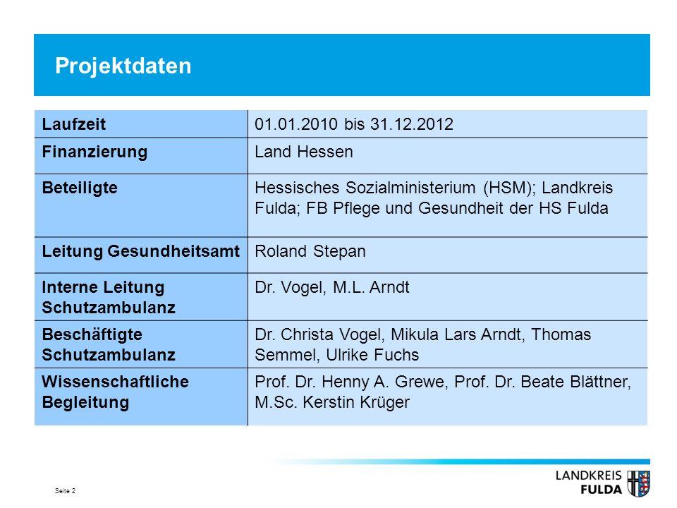 Projektdaten Laufzeit 01.01.2010 bis 31.12.2012 Finanzierung