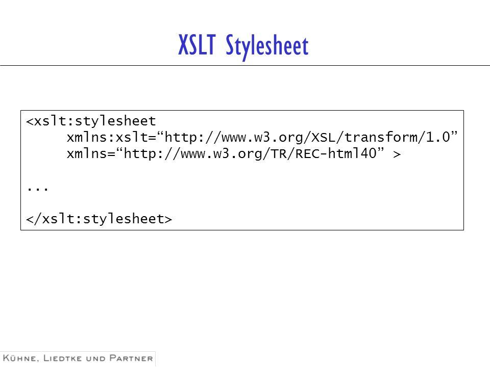 XSLT Stylesheet <xslt:stylesheet
